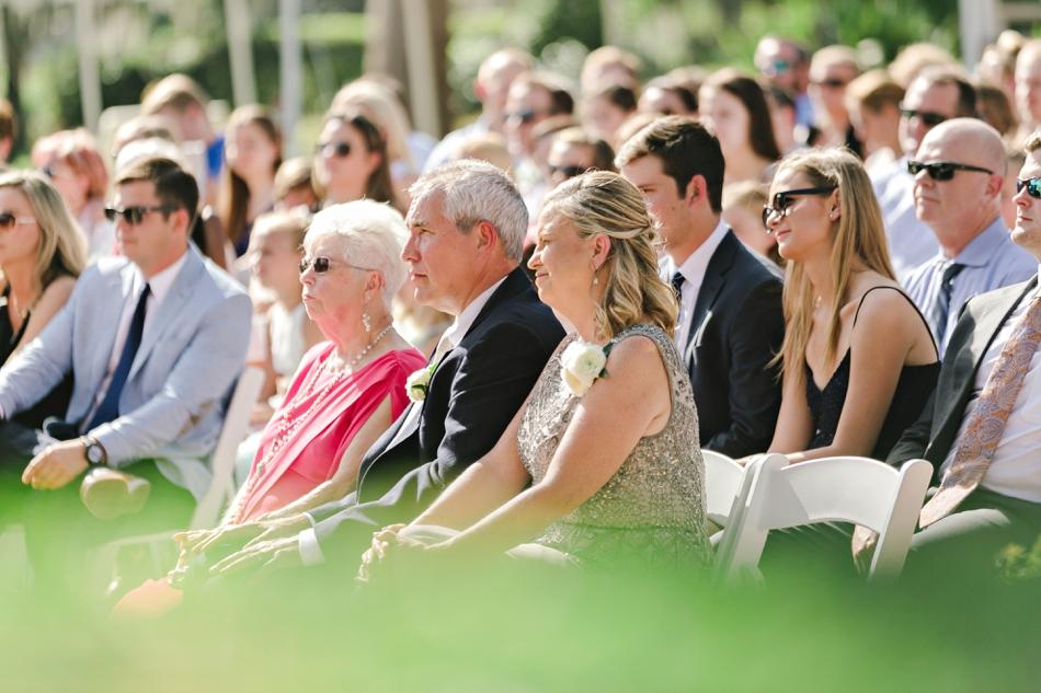 Visitors at a wedding