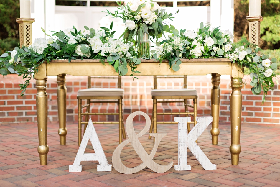 Big letters for wedding decor