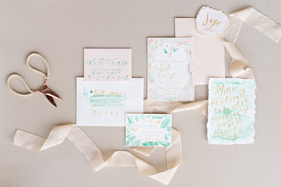 pastel invitation suite