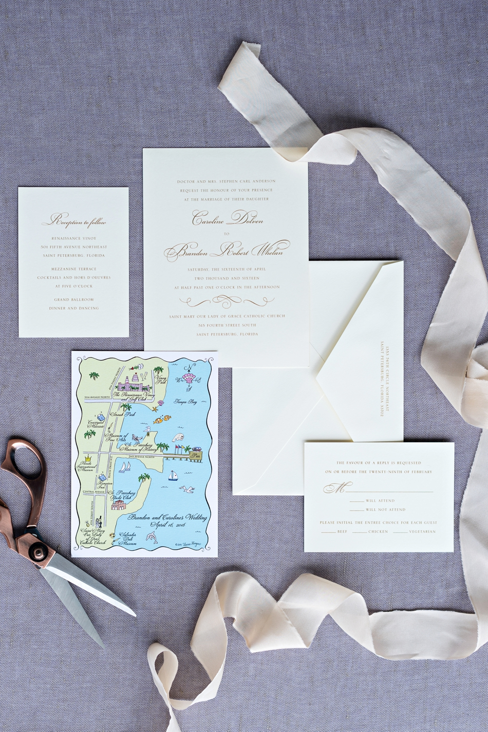 styling board for invitations