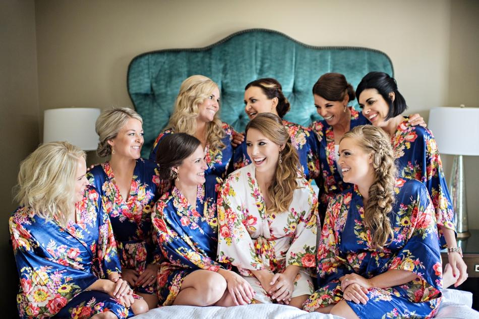 Grand bohemian wedding party
