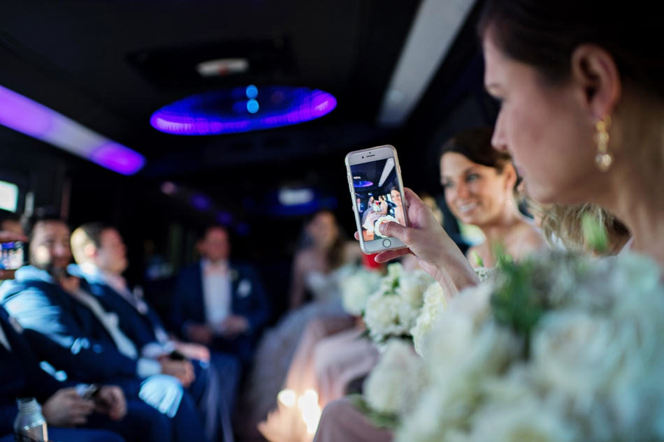 Selfie on wedding day