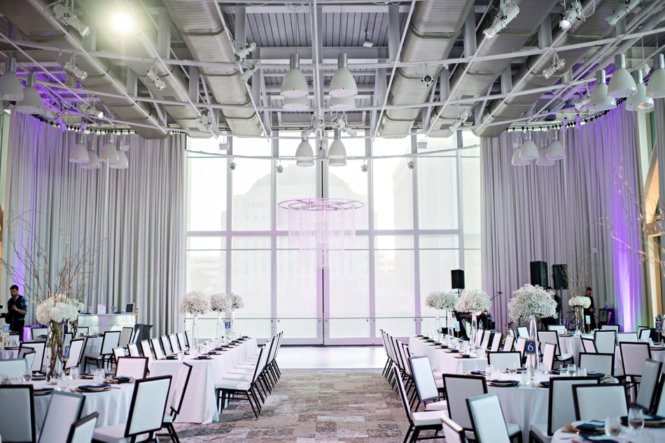 Purple reception space