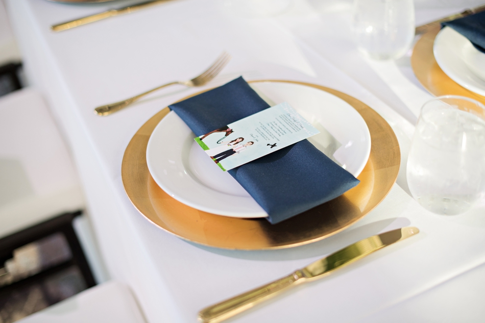 Gold wedding charger