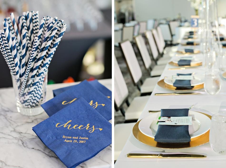 Customized wedding napkins