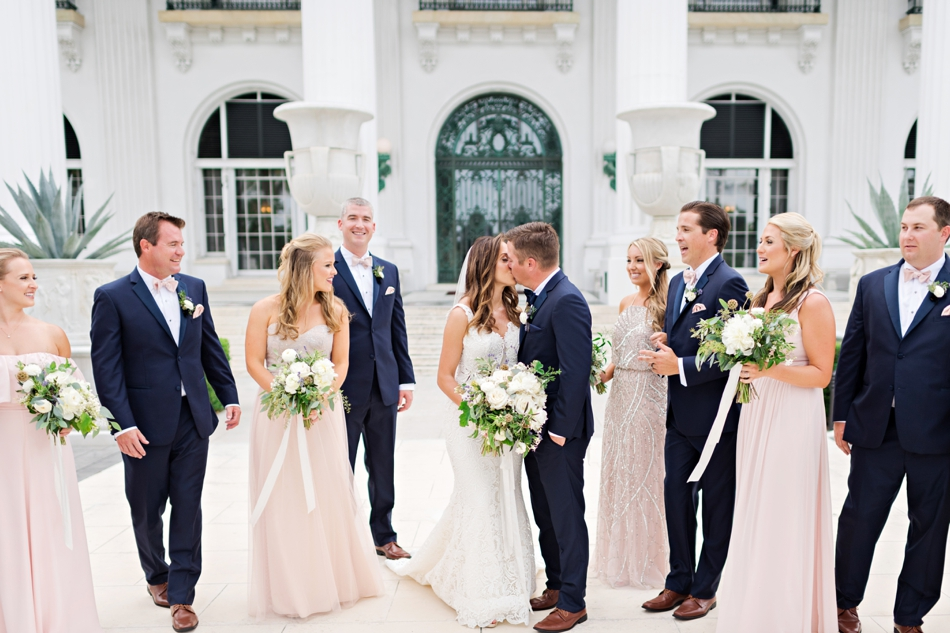 wedding party at flagler museum