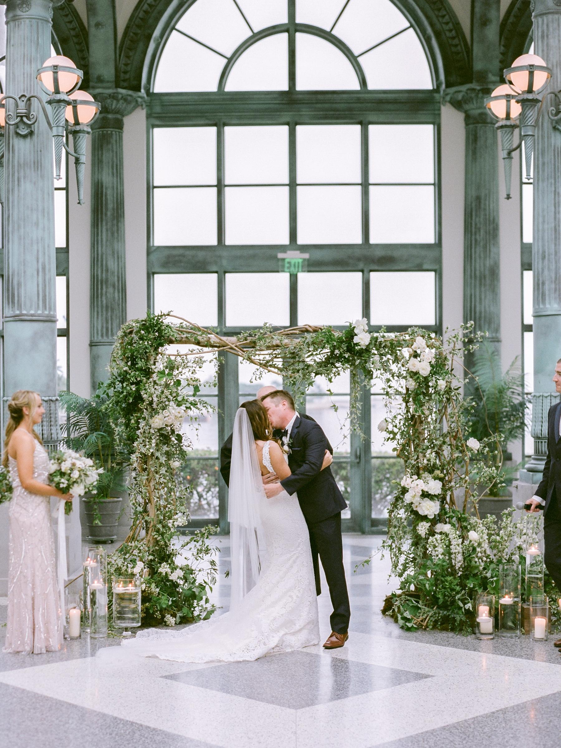 Flagler Museum wedding photographed on film
