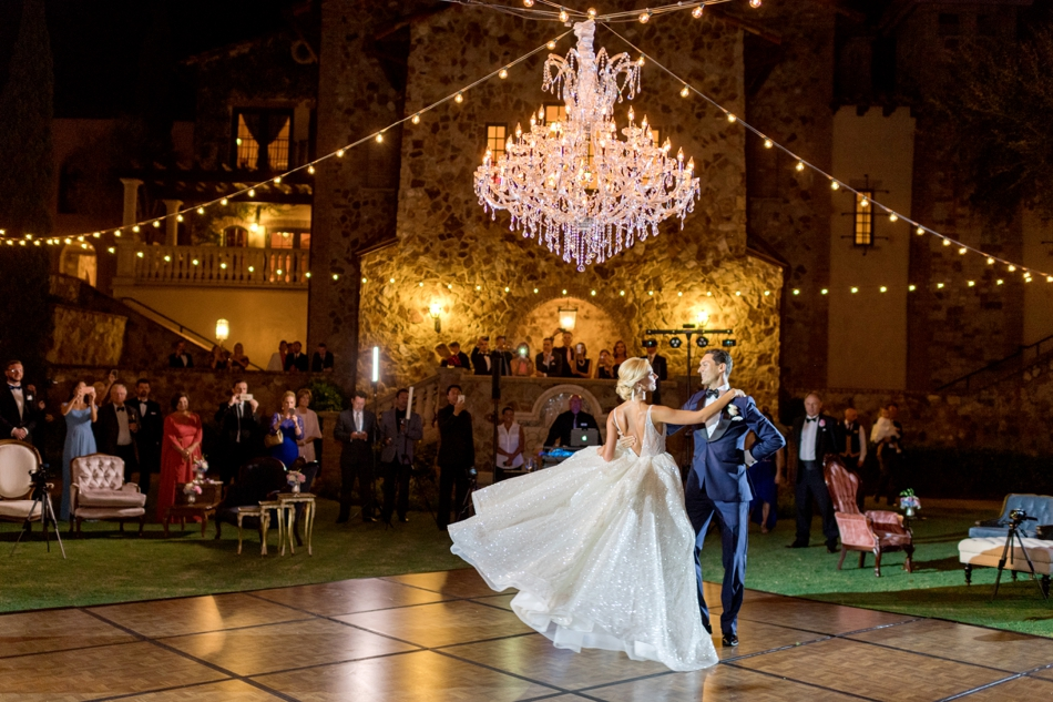 outdoor ballroom reception