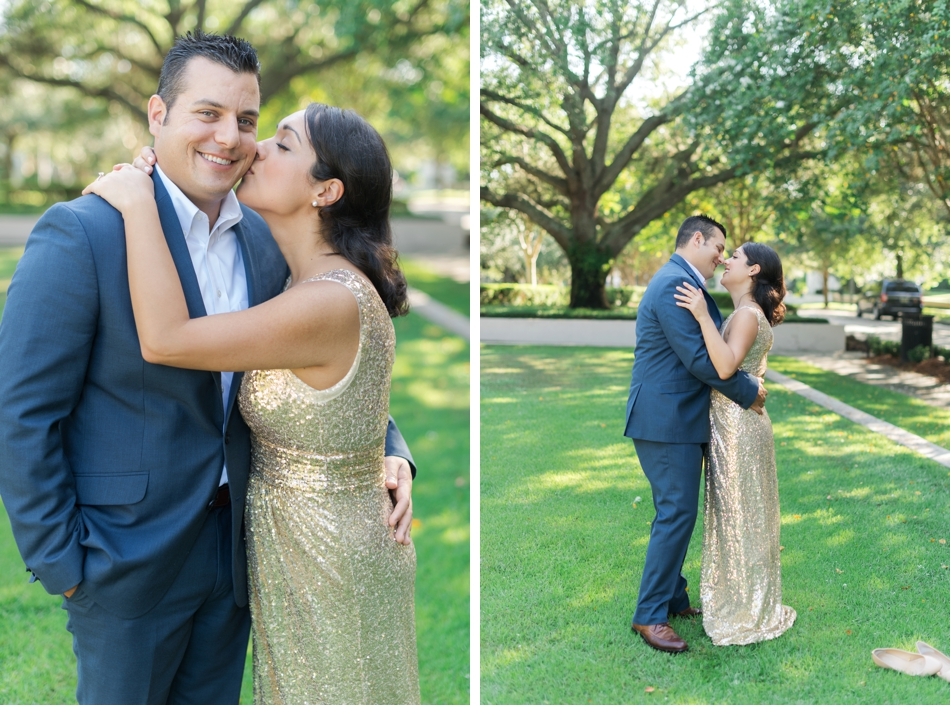 Glam engagement session