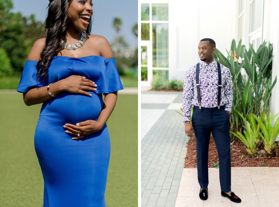 fashionable maternity photoshoot