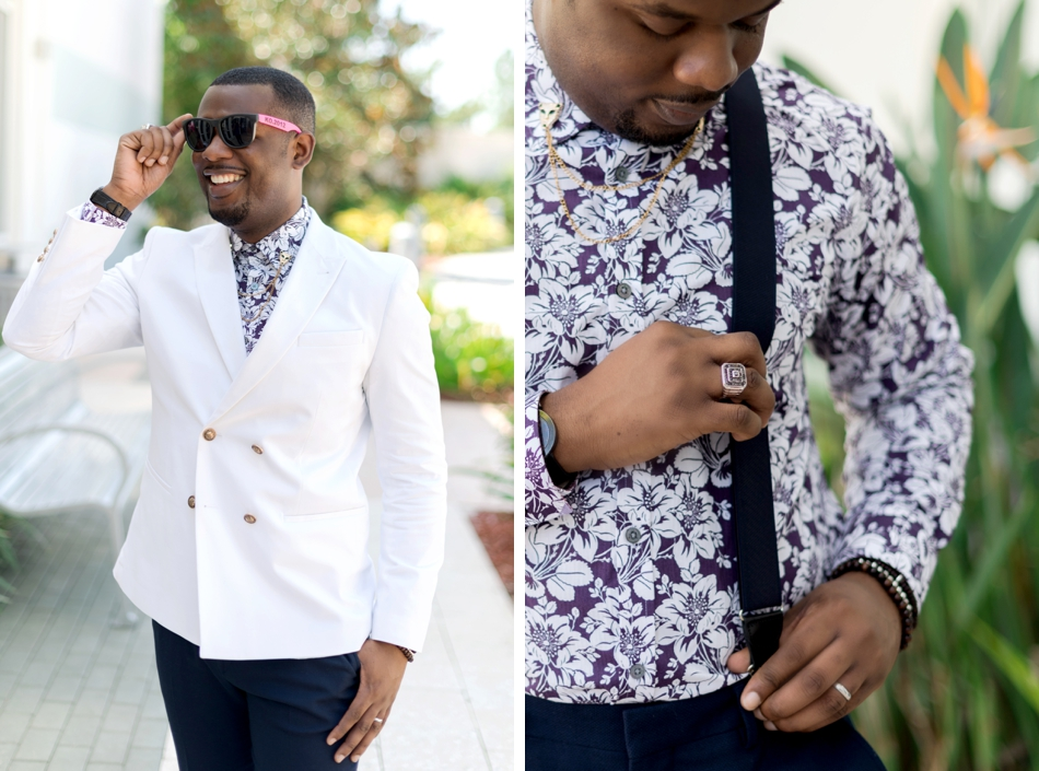 white blazer - fashionable groom attire